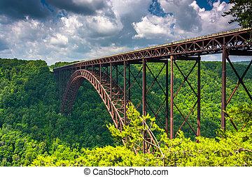 cen, видел, каньон, обод, посетитель, новый, теснина, река, мост