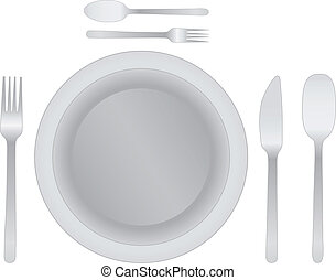 cena, 10, eps, coltelleria, piastra