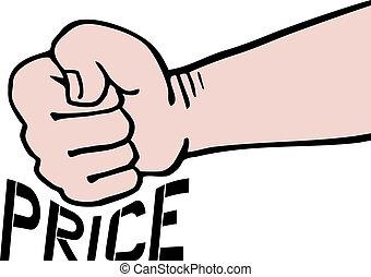 cena, bučet