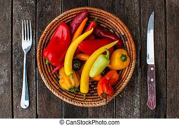 cena, chiles