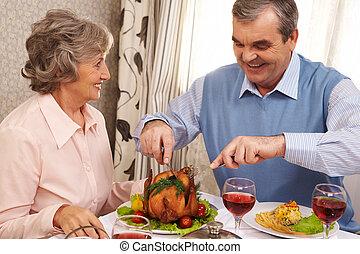 cena, coppia