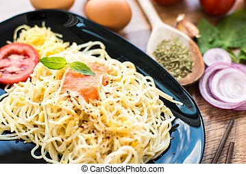 cena, Espaguetis