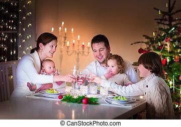 cena, natale, famiglia