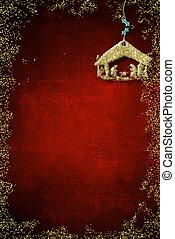 cena natividade christmas, cartões saudações