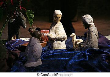 cena natividade, tabgha, igreja, de, a, multiplicação