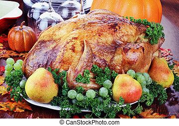 cena, ringraziamento, festivo