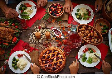 cena, ringraziamento