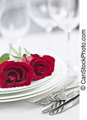 cena romantica, regolazione