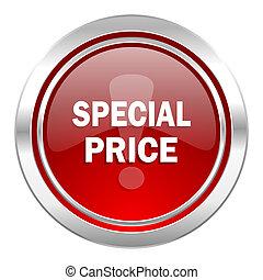 cena, szczególny, ikona