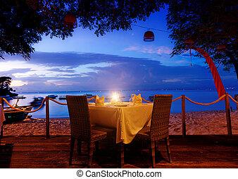 cena, tramonto