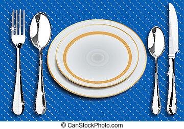 cenando, disposizioni, tavola
