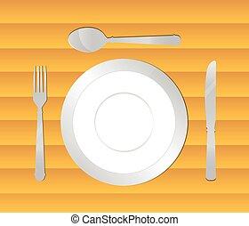 cenando, fondo, tavola