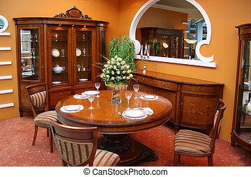 cenando, lusso, stanza