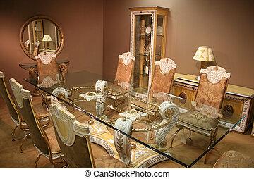 Sala Da Pranzo Lussuoso Stanza Classico Sofa Cuoio Lussuoso Cenando Costoso Furnitures Legno Arm Chairs Canstock