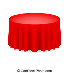 cenando, tavola rossa