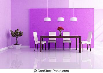 cenando, viola, stanza