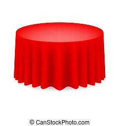 cenar, tabla roja
