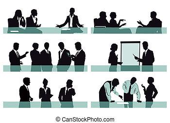 cenas, escritório