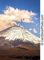 cendre, volcan, essence, cotopaxi, équateur