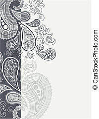 cenefa paisley - paisley border backgroundin vector format,...
