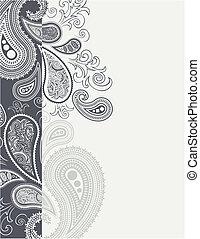 cenefa paisley - paisley border backgroundin vector format,...