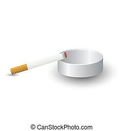 cenicero, cigarrillo