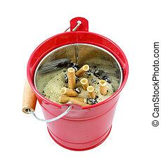 ceniza del cigarrillo, bandeja