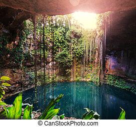 Cennote - Ik-Kil Cenote,  Mexico