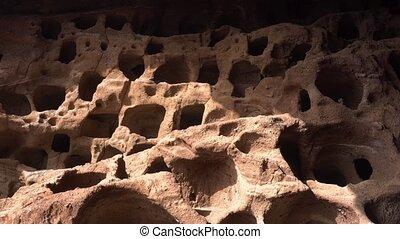 Cenobio de Valeron, archeological site, aboriginal caves in...