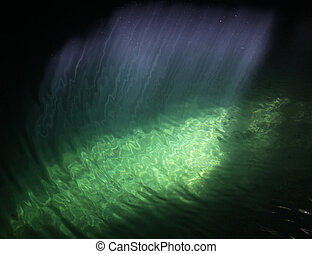 cenote, raios luz