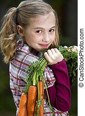 cenoura, agricultor