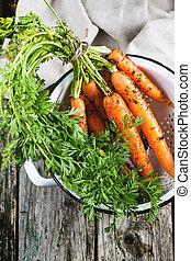 cenoura, em, colander