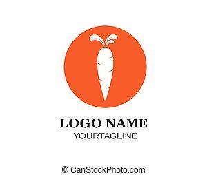 cenoura, ilustração, vetorial, desenho, logotipo, ícone