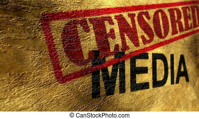 Censored media grunge concept
