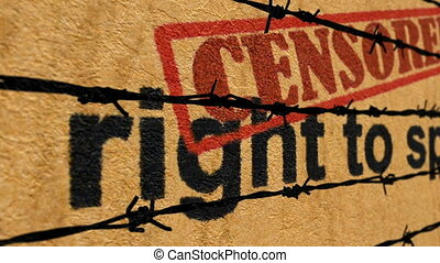 Censored rights to speak