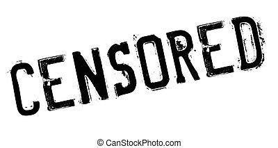 Censored rubber stamp