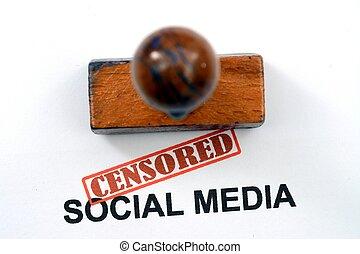 Censored social media