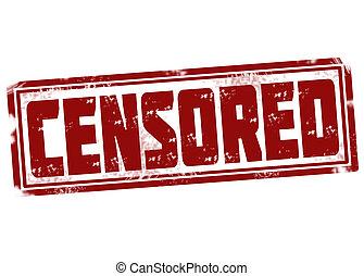 Censored stamp