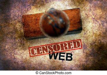Censored stamp on web