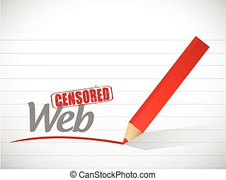 censored web message illustration design
