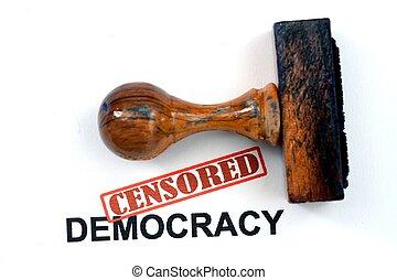 censurado, democracia
