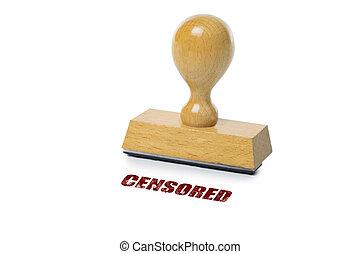 censurado, selo borracha