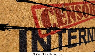censurato, internet, concetto