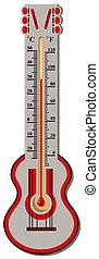 centígrado, termómetro, fahrenh