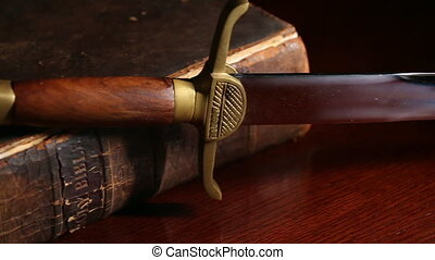 cent, cinquante, bible, vieux, année, épée