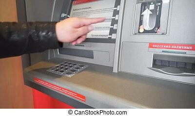cent dollars, distributeur billets banque, billet banque,...