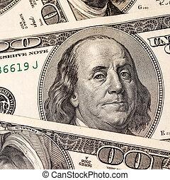 cent, factures, dollar, fond, une