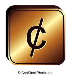 cent penny currency symbol icon