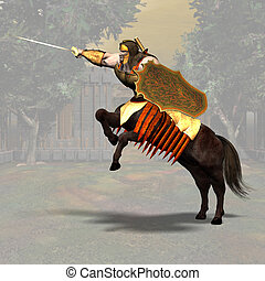 Centaur #03 - Fantasy Series - Image contains a Clipping...