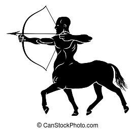Centaur Concept - Mythical centaur archer horse man...